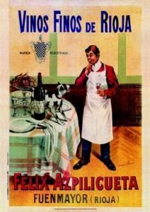 Cartel de la centenaria Bodega Félix Azpilicueta