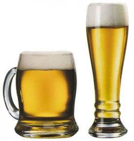 Las curvas de las copas de cerveza