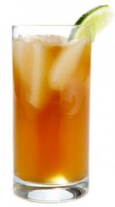 Dark, Sweet and Stormy Cocktail