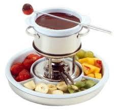 Fondue de Chocolate con frutas del tiempo