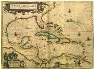 Mapa de época del Caribe