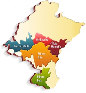 Mapa Subzonas D.O. Navarra