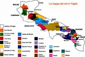 Mapa Vino Puglia