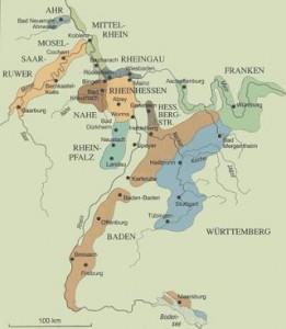 Zonas productoras de Vinos alemanes